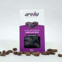 Aroha - Aroha %85 Bitter Çikolatalı Fındıklı Hurma Lokum 150g
