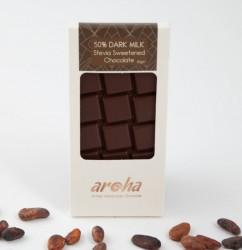 Aroha - Aroha Çikolata - Stevialı Sütlü %50 Kakao - Şekersiz 80g