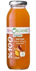 BenOrganic - BenOrganic Detox Elma Tarçın Zencefil Meyve suyu 250ml