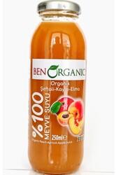 BenOrganic - BenOrganic Şeftali Kayısı Elma Meyve Suyu 250ml