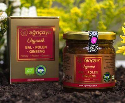 Eğriçayır Organik Bal - Polen - Ginseng Karışımı 240g