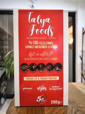 Talya Foods Glutensiz %100 Filizlenmiş Kırmızı Mercimek&Kinoa Makarna 200gr