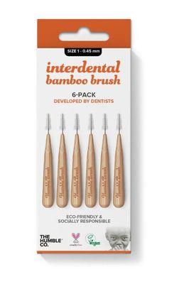 Humble Bamboo Arayüz Fırçası 1 (0,45mm) Turuncu - 6 adet
