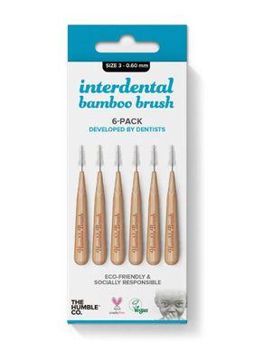 Humble Bamboo Arayüz Fırçası 3 (0,60mm) Mavi - 6 adet