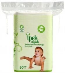 İPEK - İpek Organik Bebek Temizleme Pamuğu 60 adet