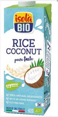 isola Bio Organik Glutensiz ve Şeker İlavesiz Hindistan Cevizli Pirinç İçeceği 1000ml