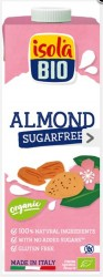 ISOLABIO - isola Bio Şekersiz ve Glutensiz Organik Badem Sütü 1 lt