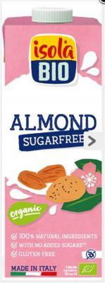 isola Bio Şeker İlavesiz ve Glutensiz Organik Badem Sütü 1000ml