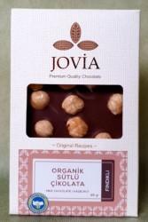 Jovia - Jovia Organik Sütlü Fındıklı Çikolata 85g