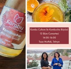 TAZE ATÖLYE - Kombu Culture ile Kombucha Büyüsü Samira Jovi&Ezgi Dedebaş Uğur 12 Ekim Cumartesi 14:00-16:00