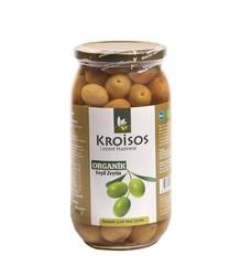 Kroisos - Kroisos Organik Yeşil Çizik Zeytin 600g