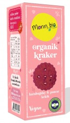 Monn Bio - Monn Bio Organik Karabuğday Pancar Kekik Kraker 80g