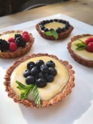 Taze Pastane - Muhallebili Tart Tek kişilik (Rafine Şekersiz , Glutensiz)