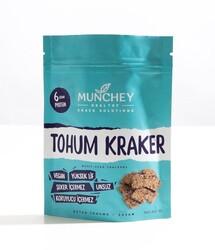 Munchey - Munchey Sade Tohum Kraker 40g