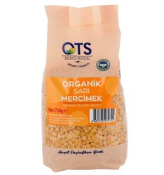 Ots - OTS Organik Sarı Mercimek 750g