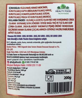 Talya Foods Redmix Çorbalık Karışımı 200g