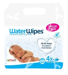 Water Wipes - WaterWipes Doğal Islak Mendil 4x60 adet (240 adet)